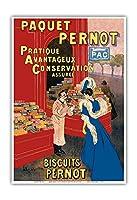 Pernotパッケージ - ビスケットPernot - フランスビスケット会社 - ビンテージな広告ポスター によって作成された リオネト・カピエロ c.1905 - アートポスター - 33cm x 48cm