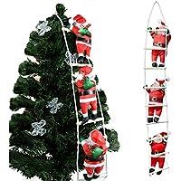 クリスマス 飾り はしごサンタクロース サンタはしご クリスマスツリー飾り サンタ人形はしご 三人105cm サンタクロース はしご はしごのサンタ クリスマスはしご ドアの装飾 ホームインテリア クリスマスデコレーション ドアオーナメント インテリア飾り クリスマスパーティー吊り装飾用 クリスマスプレゼント、ギフト