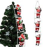 クリスマス 飾り はしごサンタクロース サンタはしご クリスマスツリー飾り サンタ人形はしご 三人105cm サンタクロース はしご はしごのサンタ クリスマスはしご ドアの装飾 ホームインテリア クリスマスデコレーション ドアオーナメント インテリア飾り クリスマスパーティー吊り装飾用 クリスマスプレゼント、ギフト (三人)