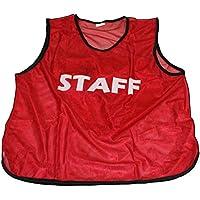 ビブス 『STAFF』 前後プリント付き 大会運営 イベントのスタッフ用 10枚セット 【全11色】