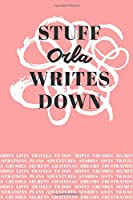 Stuff Orla Writes Down: Personalized Journal / Notebook (6 x 9 inch) with 110 wide ruled pages inside [Soft Coral]