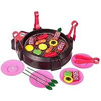 男の子と女の子は、バーベキューおもちゃのセット、子供の台所の調理器具を再生するふりをする屋外の屋外バーベキューキット、シミュレーションを住んでいる