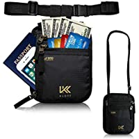 Klott 2way RFID Blocking Travel Wallet. Money Belt, Neck Pouch, Passport Holder in 1