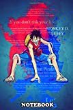 """Notebook: Luffy Onepiece Color Splash , Journal for Writing, College Ruled Size 6"""" x 9"""", 110 Pages"""