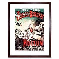 Theatre Ad Circus Holtum John Strong Man Cannon Framed Wall Art Print 劇場サーカス壁