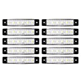 XCSOURCE 10個 6 SMD LED フロントリアサイドマーカーインジケータランプ 尾灯 白い 12V/24V トラック/トレーラー/ローリー用 MA937