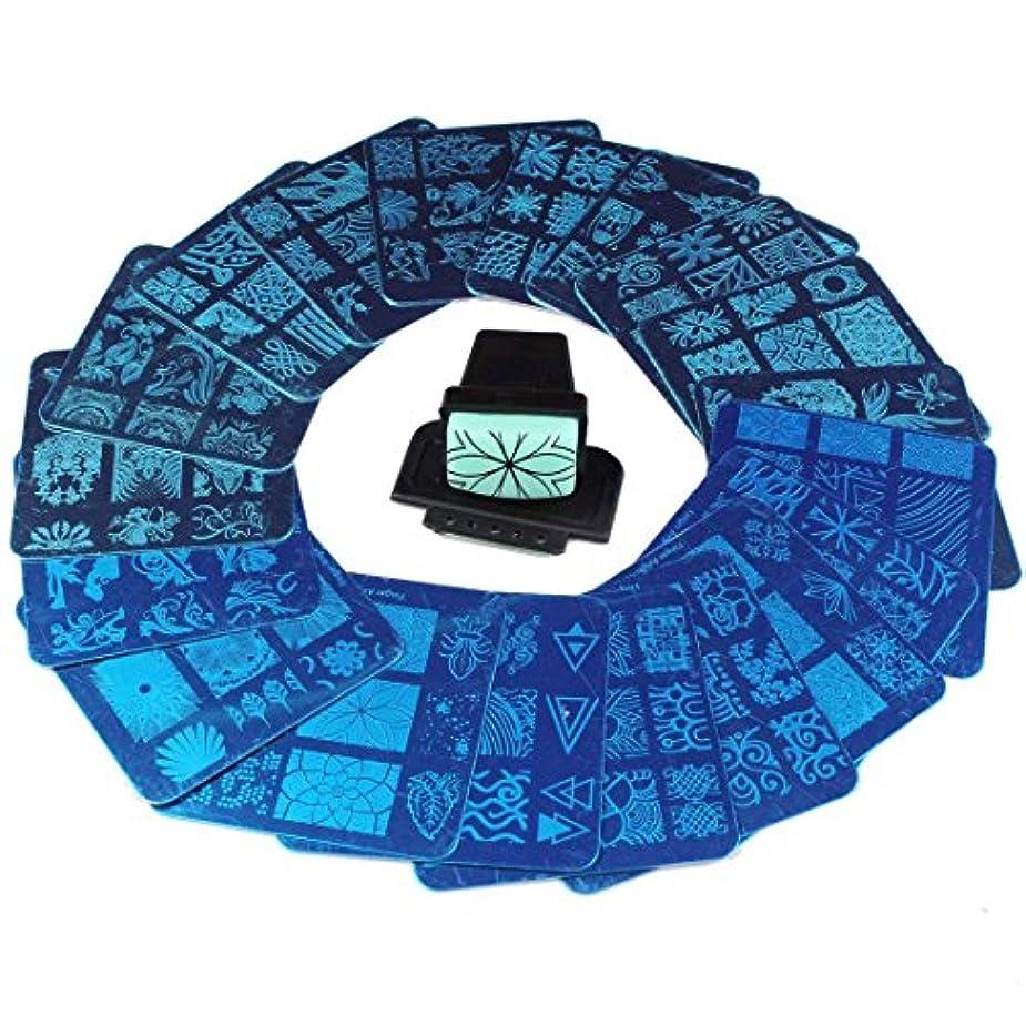 発掘媒染剤チューインガムFingerAngel ネイルイメージプレートセット ネイルプレート 正方形20枚 付き ネイルサロンも自宅も使えるネイルプレート