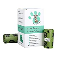 Chikorel brand Earth Breath Dog Poop Bag Bundle ? Eco-Friendly Unscented Pet Waste Bags ? 8 Refill Rolls (15 bags per Roll) for Puppy Small and Large Dog Breeds ? 120 Dog Poop Bags [並行輸入品]