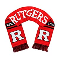 Rutgers Universityスカーフ–Scarlet KnightsクラシックブロックR Woven