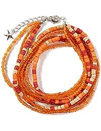 (シルバーバレットセレクト) SB select メンズ ビーズ ネックレス ブレスレット ジュエリー 雑貨 FREE(フリーサイズ) ORG(オレンジ)