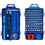 Ufanore 110 in 1 Screwdriver Set,Professional Multi-function Screwdriver Magnetic Repair Tool Kit Compatible with Cell Phone, iPhone, iPad, Watch, PC, Laptop and more.(Blue)