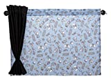ナポレックス ディズニー 車用カーテン 2枚入り メッシュ&遮光の2重構造 ダブルカーテン ダンボ 汎用 BD-809
