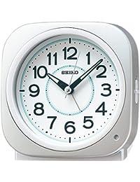 セイコー クロック 目覚まし時計 自動点灯 アナログ 集光樹脂文字板 夜でも見える 銀色 メタリック KR889S SEIKO