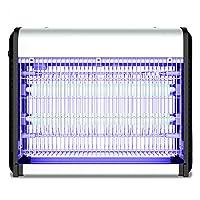 GUOWEI 蚊ランプ電撃殺虫灯 UVA紫色の光 電気ショック プラグインタイプ アルミニウム合金 ABS 純粋な物理学 効率的な サイレント 7モデル (色 : シルバー しるば゜, サイズ さいず : A-39.5x8.6x32cm-2*10W)