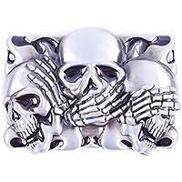 The Three Skull Art Design Cowboy Belt Buckles