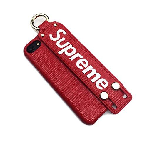 シュプリーム Supreme アイフォン iphoneケース スマホケース 携帯カバー 新品在庫一掃 (i7/i8共用, red) [並行輸入品]