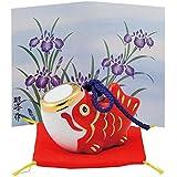 五月人形 コンパクト 陶器 小さい 鯉のぼり/こいのぼり小 赤 (磁器) /こどもの日 端午の節句 初夏 お祝い 贈り物 プレゼント