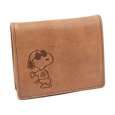 スヌーピー 財布 SNOOPY BOX型 コインケース 小銭入れ 牛革 【57507】 キャメル