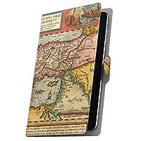タブレット 手帳型 タブレットケース タブレットカバー カバー レザー ケース 手帳タイプ フリップ ダイアリー 二つ折り 革 地図 世界 006203 BNT-791W BLUEDOT ブルードット bnt791w2gx bnt791w2gx-006203-tb