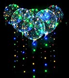 18インチledバルーン 6個入り LED風船 ライト 透明 光るバルーン 誕生日 Together きらきら花火大会 クリスマス 新年 正月 バレンタイン 結婚式 ライブ/記念日 パーティーなどに飾り バルーン+イルミネーション  (18インチ風船)