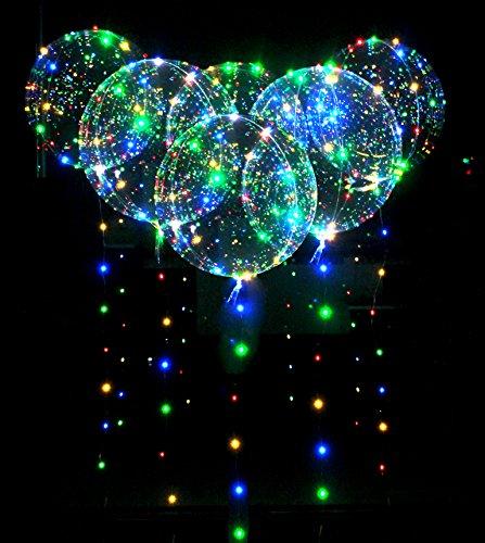 [해외]18 인치 LED 풍선 6 개들이 투명 빛나는 풍선 Together 반짝 반짝 불꽃 놀이 크리스마스 새해 발렌타인 결혼식 라이브 | 기념일 파티 장식/18 inch LED balloons with 6 transparent balloons Together glittering fireworks display Christmas New ...