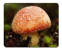 オレンジキノコ - マウスパッド(210x260x3mm)