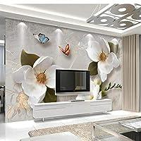 Wuyyii カスタム3 D壁紙ヨーロッパレトロ大型ソファソファテレビの背景リビングルームの寝室の壁の装飾-250X175Cm