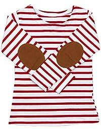(プタス)Putars ベビー服 子供服 Tシャツ 男の子 長袖 ストライプ柄 二色 可愛い 秋 冬 運動服 旅行 記念日 プレゼント 2-6歳