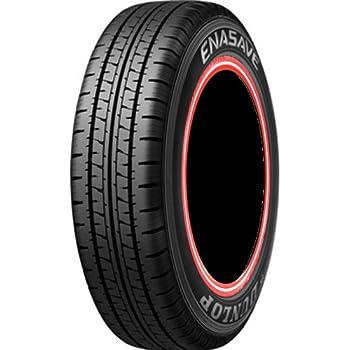 ダンロップ エナセーブ VAN01 155R12 6PR LT カスタムプリント赤白赤ライン 4本セット