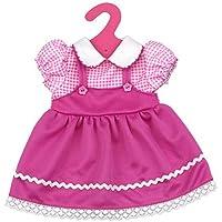 SONONIA 2件 18 インチ アメリカガール人形用衣装 チェック柄 半袖ドレス 贈り物 ピンク