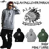 ALASCA パーカー スノーボード RAGLAN PULLOVER PARKA INDY 2016-17 スノボー ウェア スノボ スキー 裏起毛 アラスカ メンズ レディース ALASKA