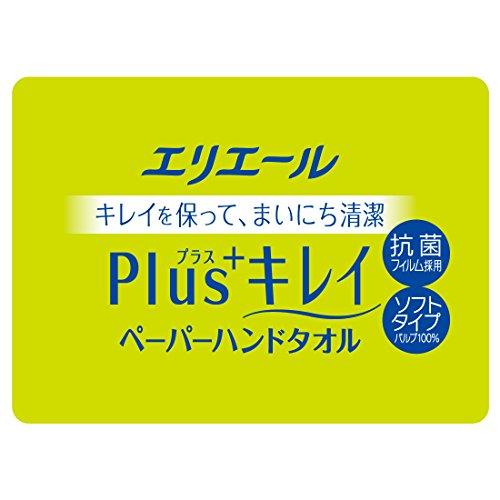 エリエール Plus+キレイ ペーパーハンドタオル 120組240枚×5個