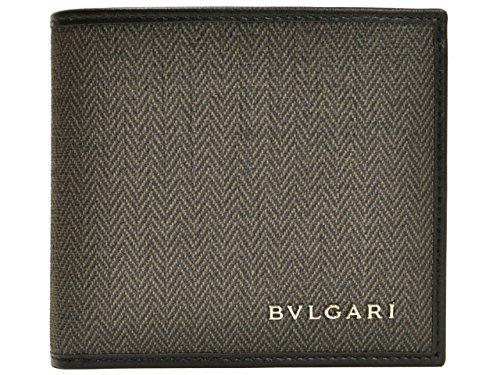 (ブルガリ) BVLGARI 財布 サイフ 二つ折り財布 ダークグレー PVC レザー 32581 ブランド メンズ ア...