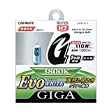 カーメイト 車用 ハロゲン ヘッドライト GIGA エボホワイト H7 3800K 1350lm BD725