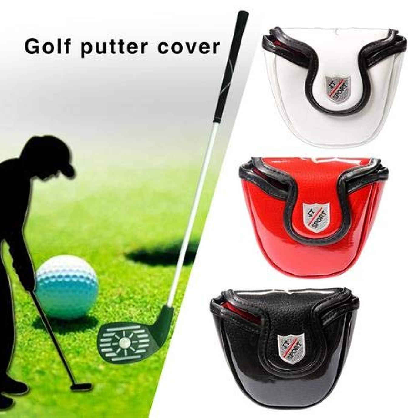 両方テレマコスルネッサンスパターカバー ゴルフ ゴルフスカルカバー 磁気バックル プッシャーカバー 骷髅 ゴルフヘッドギア ゴルフアクセサリー 約13.5x11x2.5cm 高級PUレザー 防水