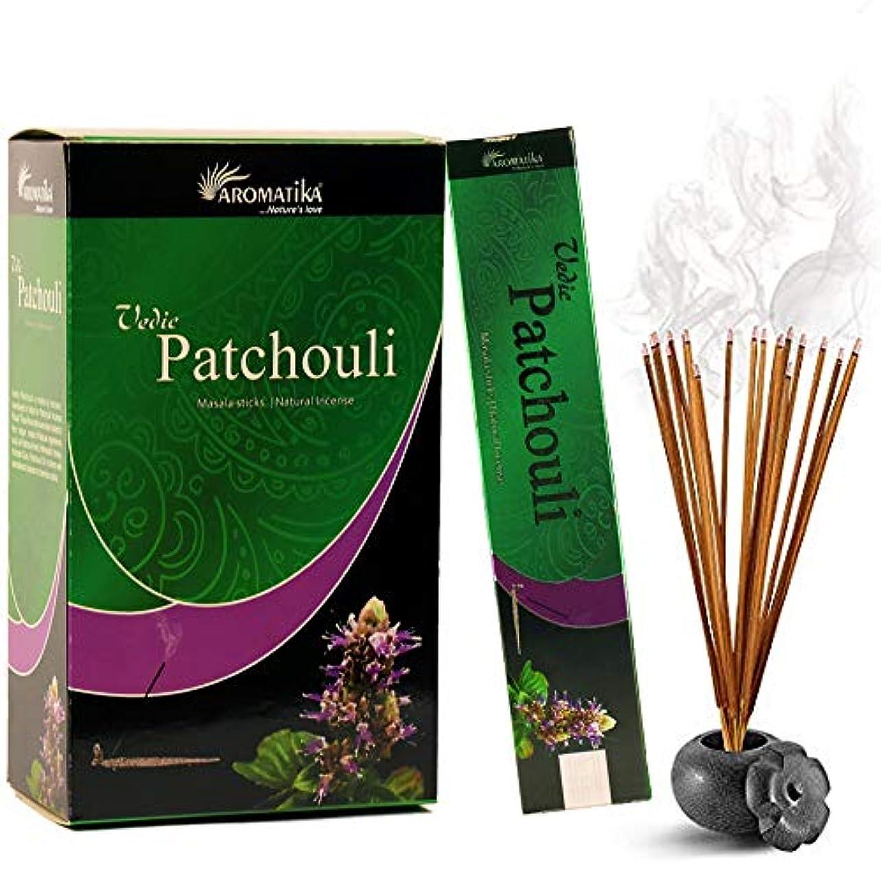 一般化する胃乱暴なaromatika Vedic Patchouli自然Masala Incense Sticks inパックof 12