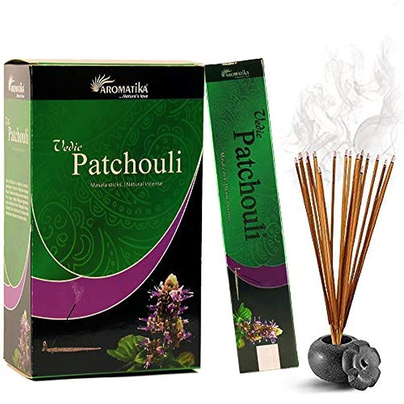アンペア不満作成者aromatika Vedic Patchouli自然Masala Incense Sticks inパックof 12