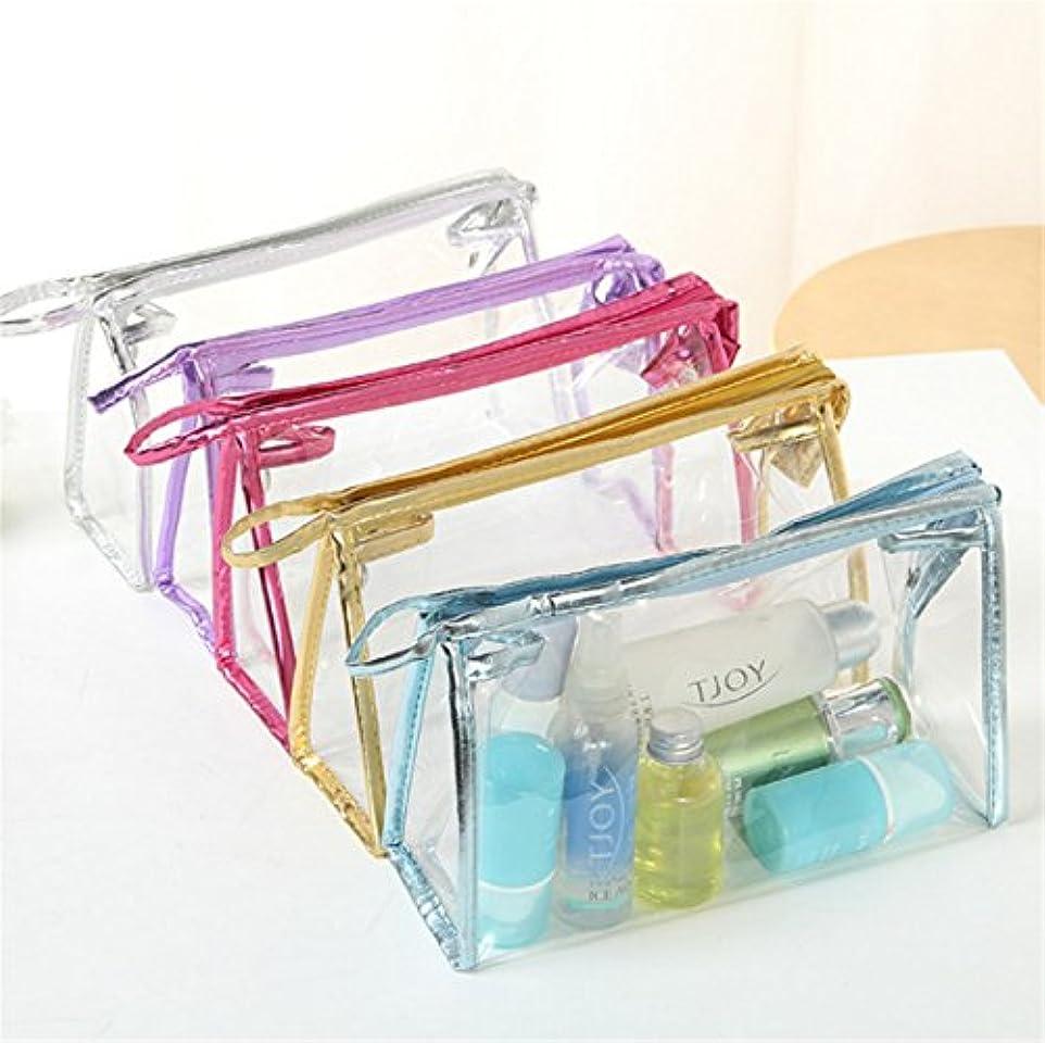 カテナニンニク第二にHonel 透明 ビニール バッグ スクエア 化粧 ポーチ 小物収納 透明洗面具トラベル防水収納ポーチ バッグ 収納ケース