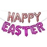 ZONGLIAN 風船 バルーン 16インチ大ハッピーイースター箔バルーンセットバナーホオジロパーティー 装飾 パーティー 飾り 結婚式 記念日 お祝い 誕生日 二次会 子供会 文化祭 母の日