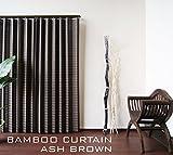 アジアン 竹カーテン 2枚組セット リゾート (幅100×丈200cm 2枚組, アッシュブラウン)