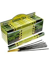 Tulasi Green Tea Incense, 8 Sticks x 25 Packs