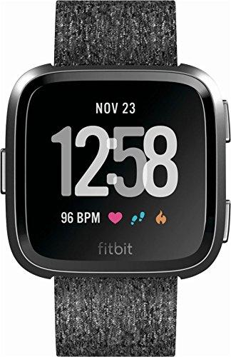 Fitbit Versa special Edition FB505BKGY フィットビットVersa スペシャルエディションアクティビティトラッカー,活動計, スマートウォッチ [並行輸入品]