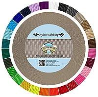 (10 Yards, Silver) - Country Brook Design Heavy Nylon Webbing (2.5cm)