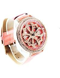 un bel tocco (ウンベルトッコ)グルグル時計 文字盤が回る くるくる時計 ビッグフェイスデザイン AROUND-WATCH (ピンク)