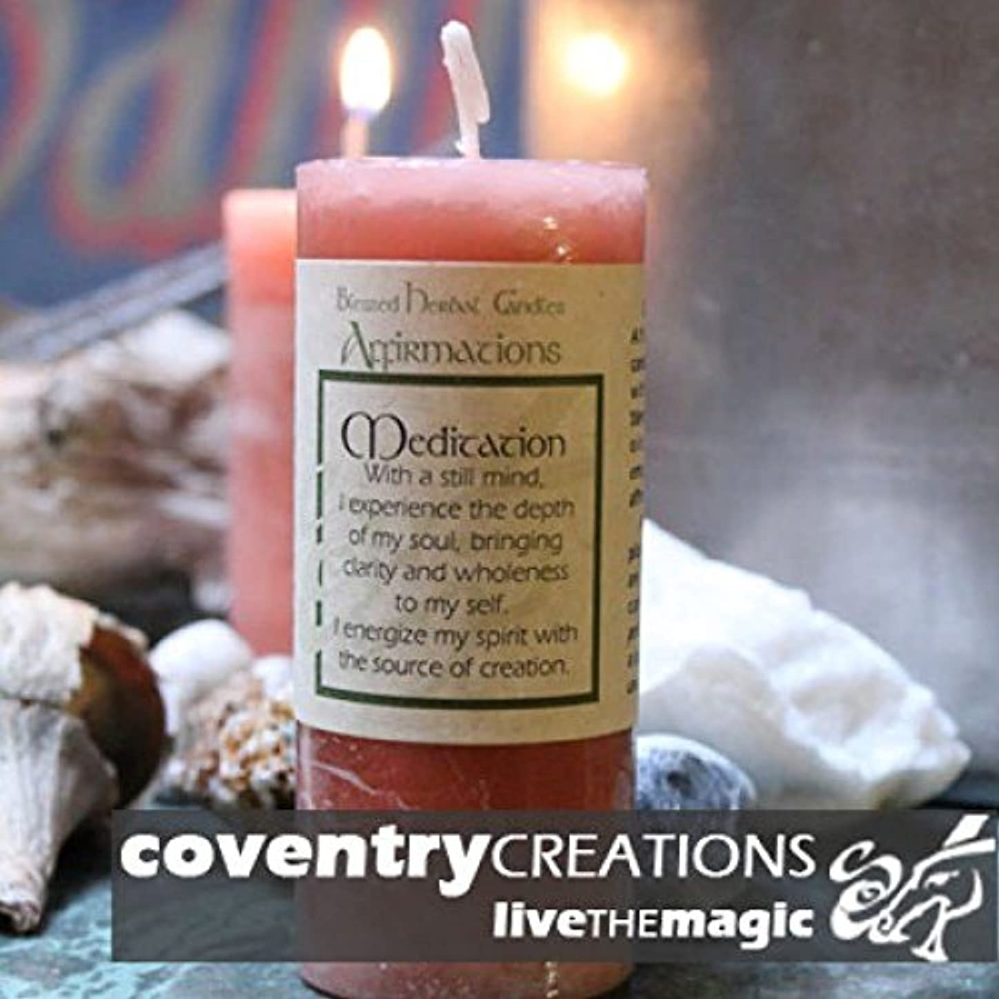 困難きらめくウェイトレスAffirmation - Meditation Candle by Coventry Creations