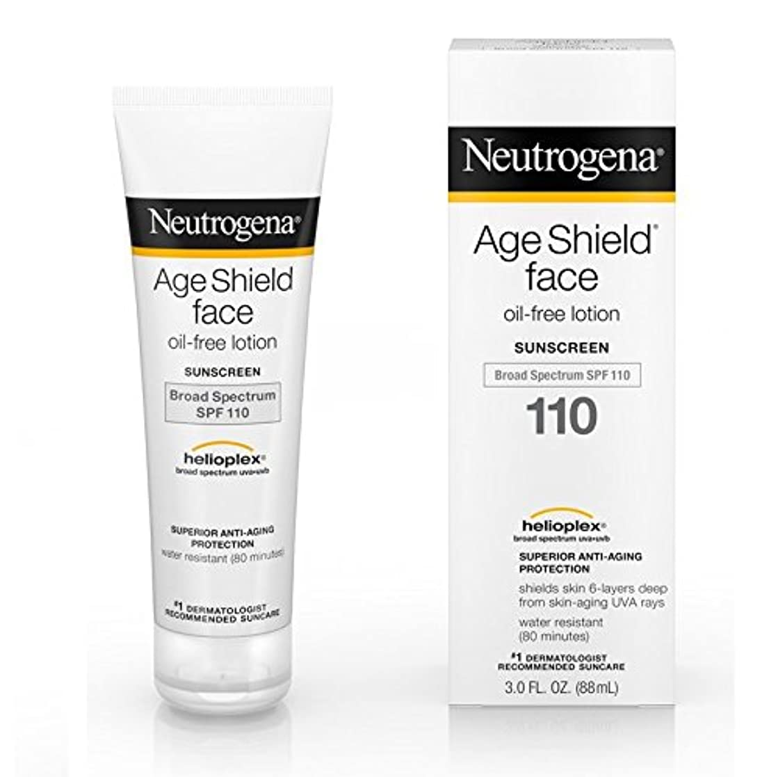 朝の体操をする広く葉巻【海外直送品】Neutrogena Age Shield® Face Oil-Free Lotion Sunscreen Broad Spectrum SPF 110 - 3 FL OZ(88ml)