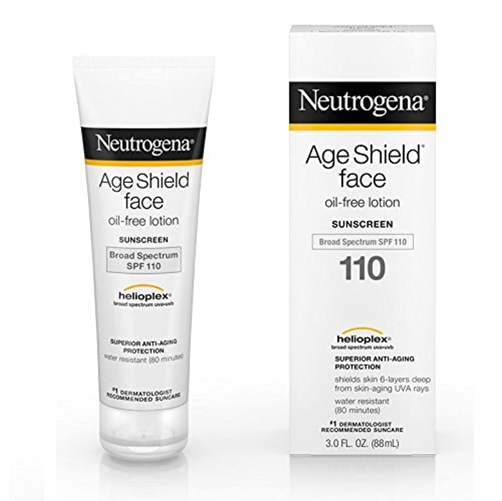 一族習字船員【海外直送品】Neutrogena Age Shield® Face Oil-Free Lotion Sunscreen Broad Spectrum SPF 110 - 3 FL OZ(88ml)