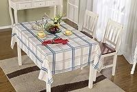 GRJH® テーブルクロス、モダンスクエアグリッド新鮮な地中海コーヒーテーブルダイニングテーブル布長方形 防水 ( サイズ さいず : 135x200cm )