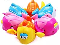 sealive 6 pcs swimming clockwork wind up toys for kids baby pool