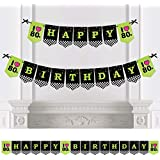 Big Dot of Happiness 80年代レトロ - Totally 1980年代 誕生日パーティー バンティングバナー - 誕生日パーティーデコレーション - ハッピーバースデー
